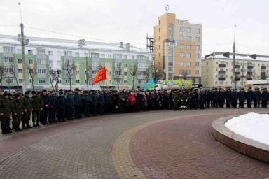 Митинг, посвященный годовщине вывода советских войск из Афганистана в Липецке
